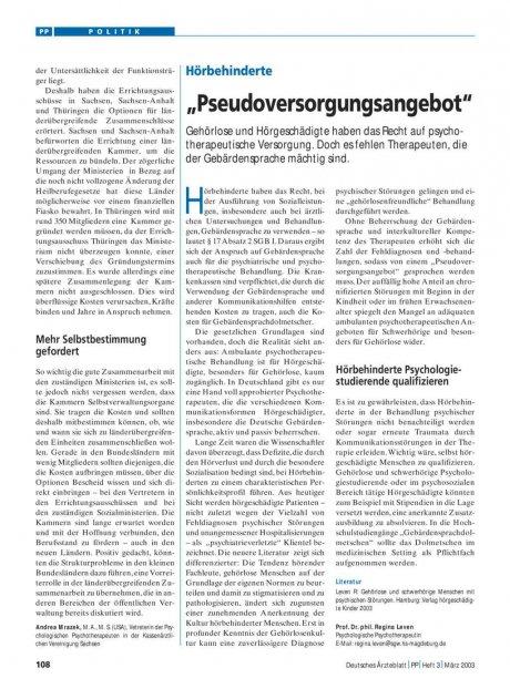 """Hörbehinderte: """"Pseudoversorgungsangebot"""""""