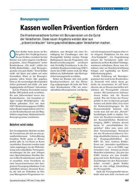 Bonusprogramme: Kassen wollen Prävention fördern