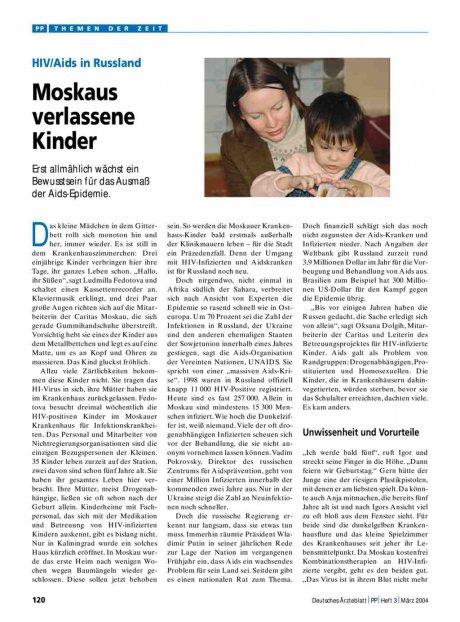 HIV/Aids in Russland: Moskaus verlassene Kinder