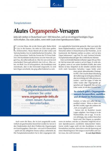 Transplantationen: Akutes Organspende-Versagen