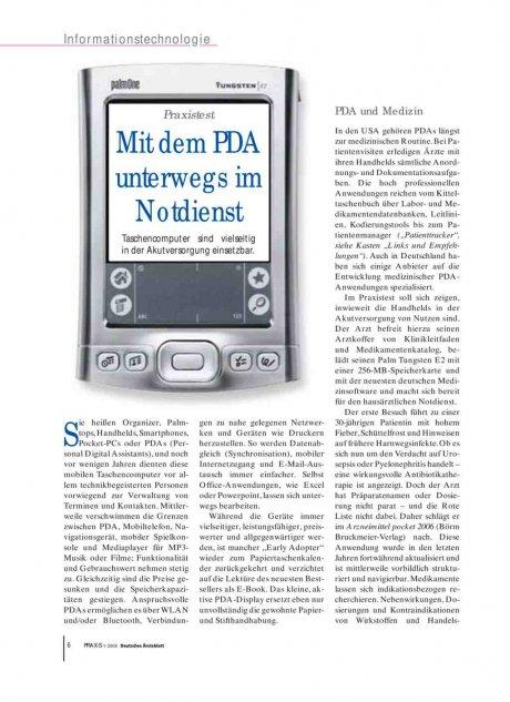 Praxistest: Mit dem PDA unterwegs im Notdienst