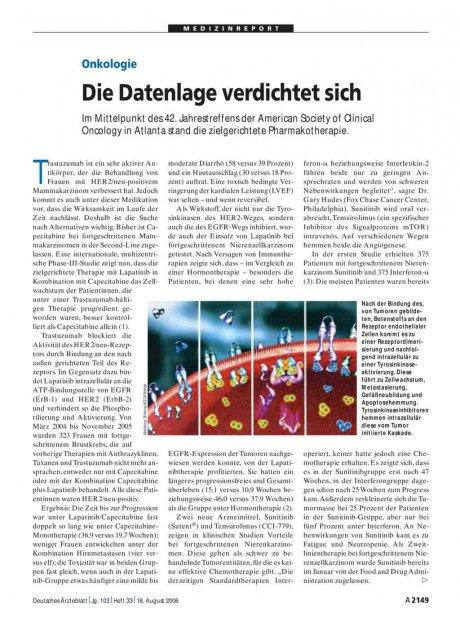 Onkologie: Die Datenlage verdichtet sich