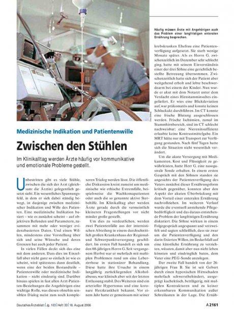 Medizinische Indikation und Patientenwille