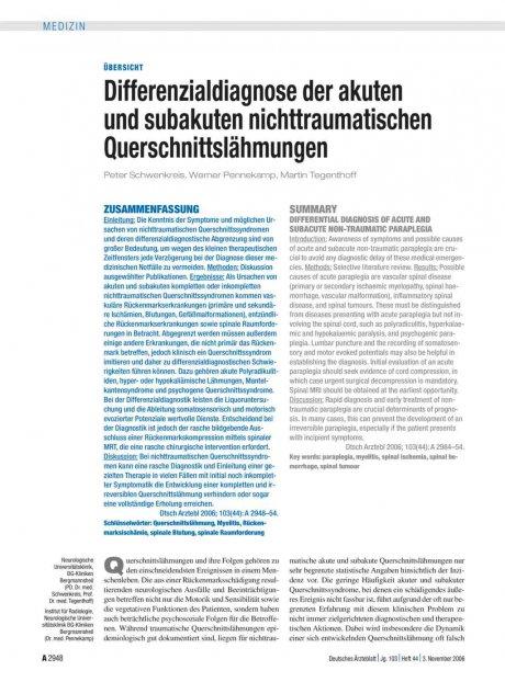 Differenzialdiagnose der akuten und subakuten...