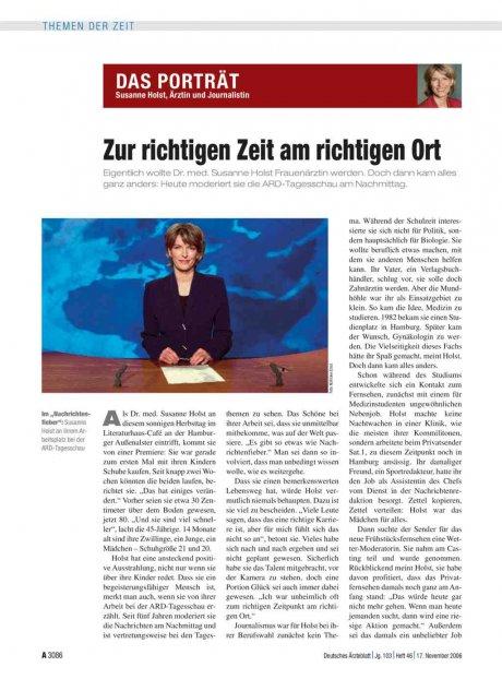 Susanne Holst, Ärztin und Journalistin