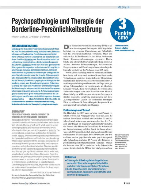 Psychopathologie und Therapie der...