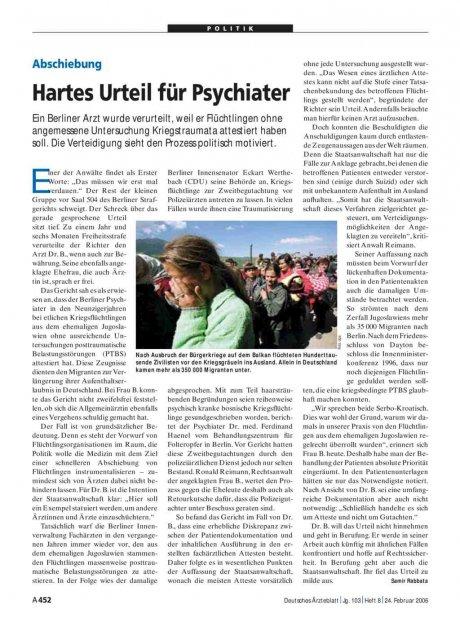 Abschiebung: Hartes Urteil für Psychiater