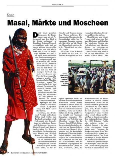 Kenia: Masai, Märkte und Moscheen