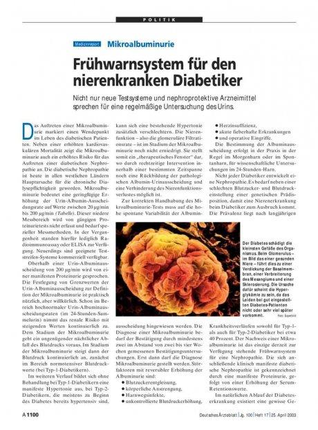 Mikroalbuminurie