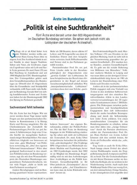 Ärzte im Bundestag