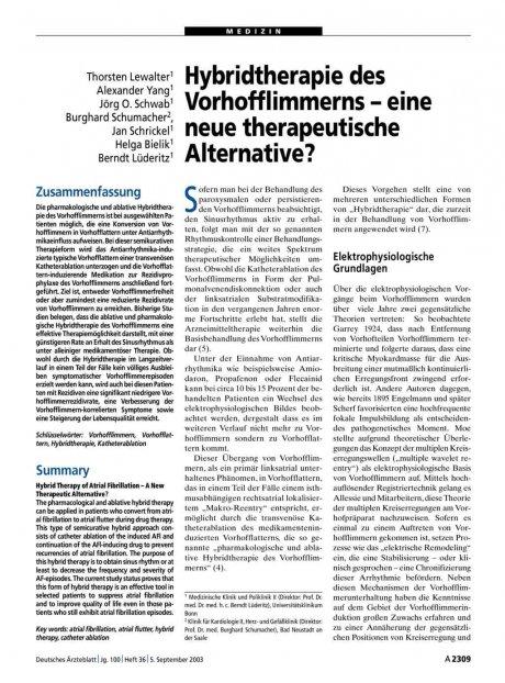 Hybridtherapie des Vorhofflimmerns – eine neue...