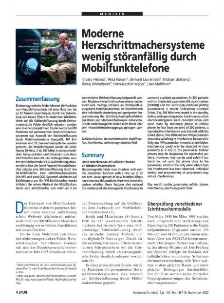 Moderne Herzschrittmachersysteme wenig...