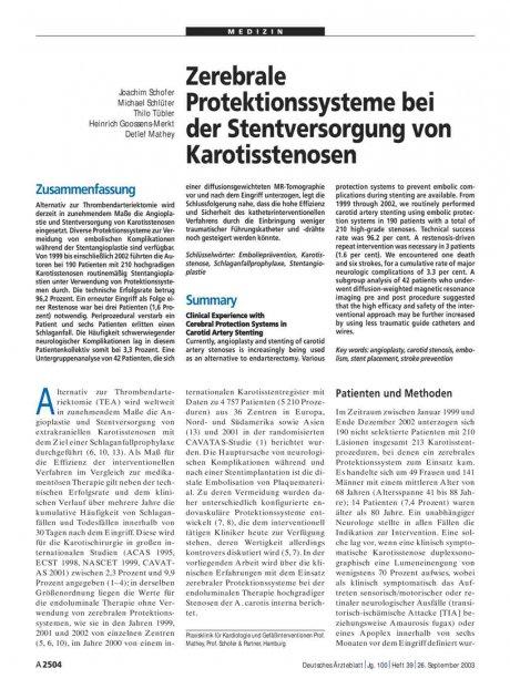 Zerebrale Protektionssysteme bei der...