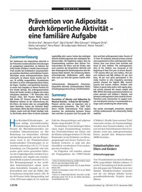 Prävention von Adipositas durch körperliche...