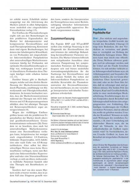 Medizingeschichte(n): Psychiatrie - Psychische Kur