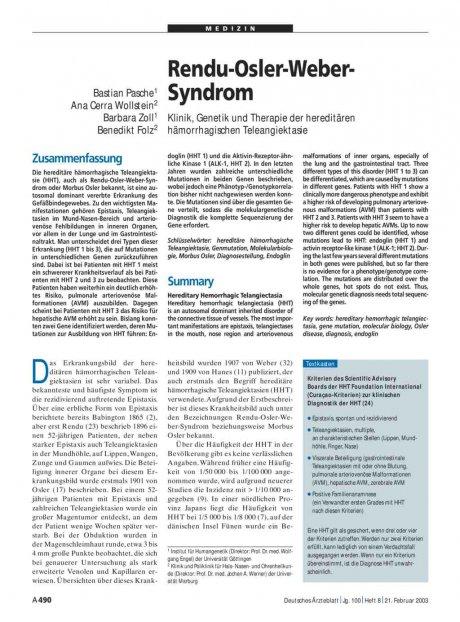 Rendu-Osler-Weber-Syndrom