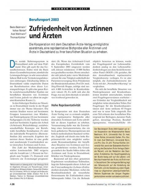 Berufsreport 2003