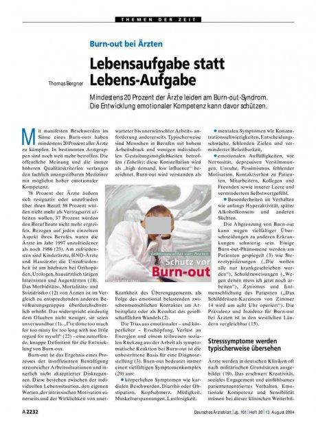 Burn-out bei Ärzten