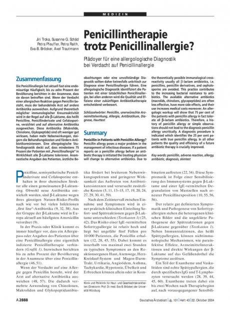 Penicillintherapie trotz Penicillinallergie?...