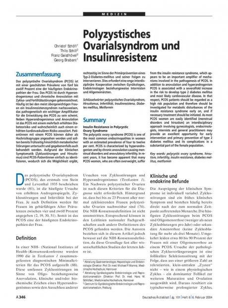 Polyzystisches Ovarialsyndrom und Insulinresistenz