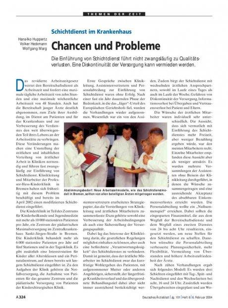 Schichtdienst im Krankenhaus: Chancen und Probleme