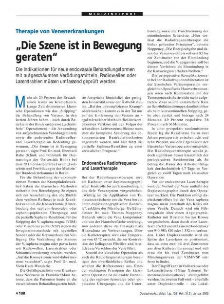 """Therapie von Venenerkrankungen: """"Die Szene ist in Bewegung geraten"""""""