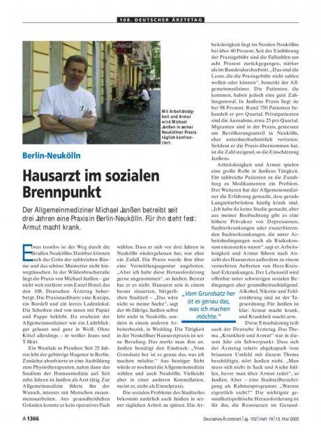 Berlin-Neukölln: Hausarzt im sozialen Brennpunkt