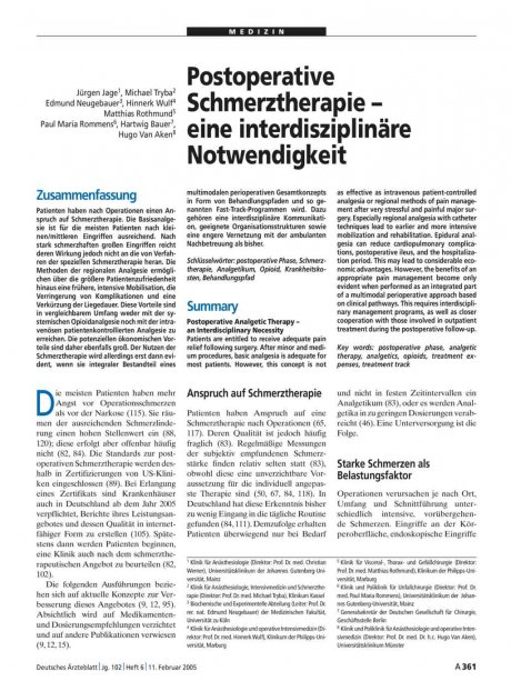 Postoperative Schmerztherapie – eine...