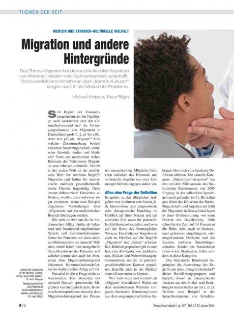 Medizin und ethnisch-kulturelle Vielfalt