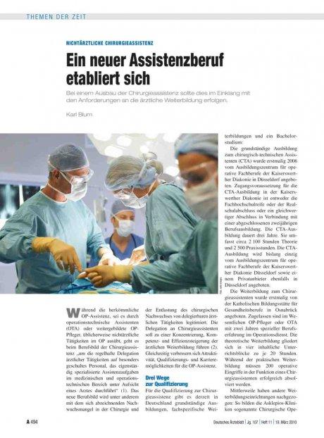 Nichtärztliche Chirurgieassistenz