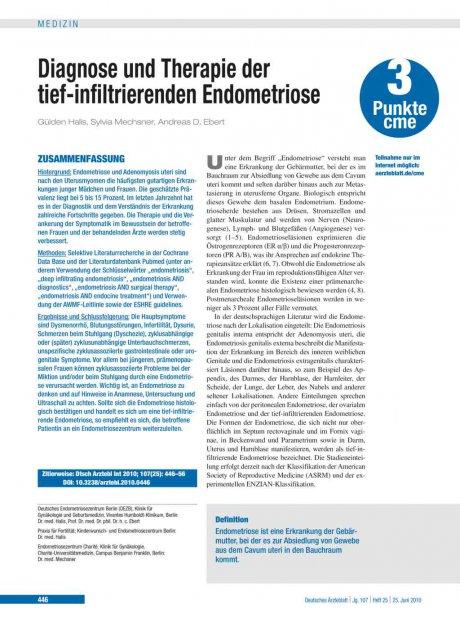 Diagnose und Therapie der tief-infiltrierenden...