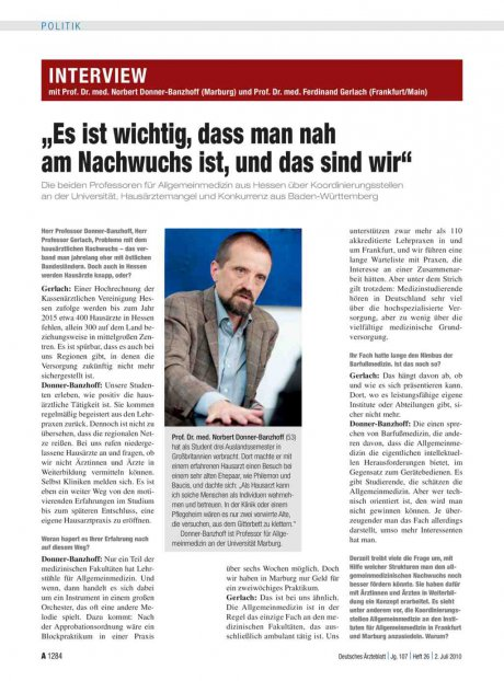 Interview mit Prof. Dr. med. Norbert...