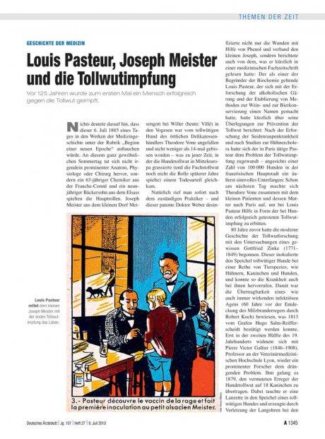 Geschichte der Medizin: Louis Pasteur, Joseph Meister und die Tollwutimpfung