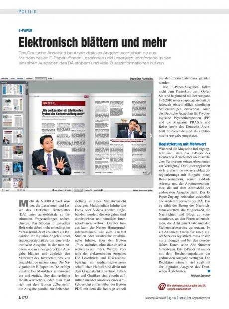 E-Paper: Elektronisch blättern und mehr