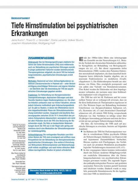Tiefe Hirnstimulation bei psychiatrischen...