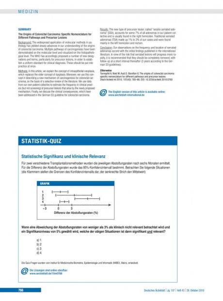Statistische Signifikanz und klinische Relevanz