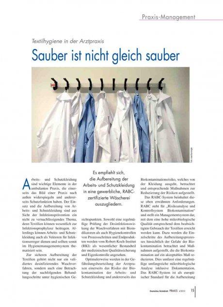 Textilhygiene in der Arztpraxis