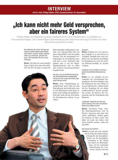 Interview mit Dr. med. Philipp Rösler (FDP),...