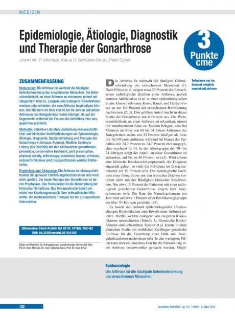 Epidemiologie, Ätiologie, Diagnostik und Therapie...