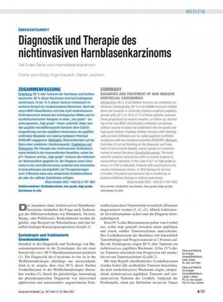 Diagnostik und Therapie des nichtinvasiven...