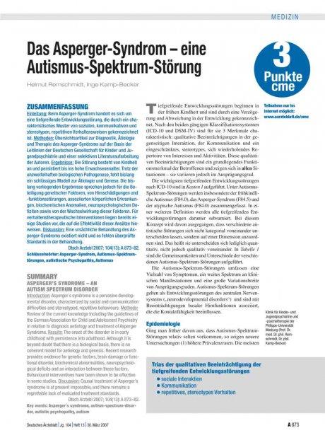 Das Asperger-Syndrom – eine...