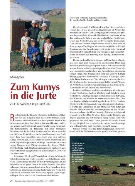 Mongolei: Zum Kumys in die Jurte