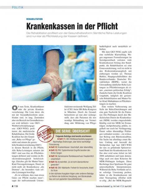 Rehabilitation: Krankenkassen in der Pflicht