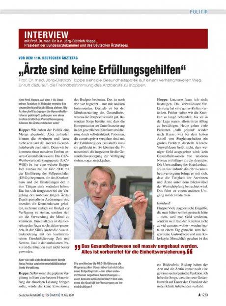 Interview mit Prof. Dr. med. Dr. h.c....