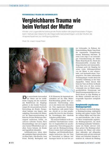 Psychosoziale Folgen des Vaterverlusts