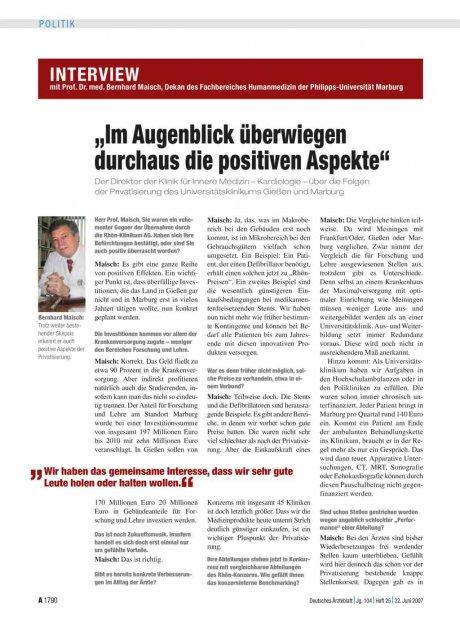 Interview mit Prof. Dr. med. Bernhard Maisch,...