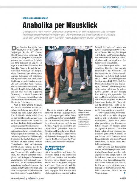 Doping im Breitensport: Anabolika per Mausklick