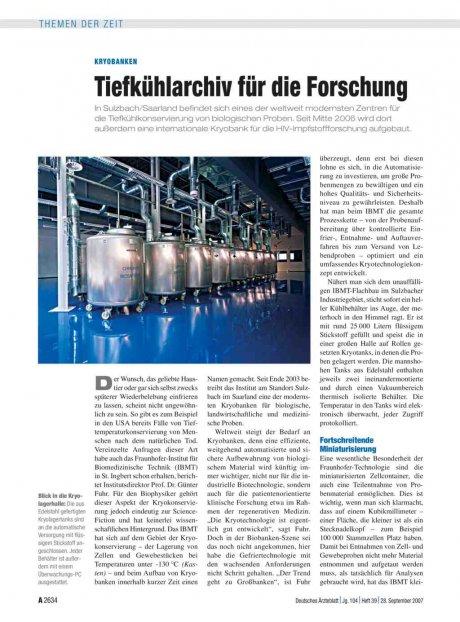 Kryobanken: Tiefkühlarchiv für die Forschung