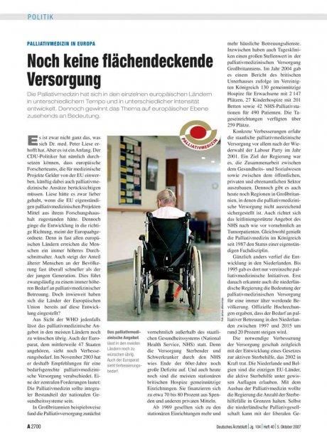 Palliativmedizin in Europa