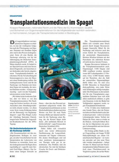 Organspende: Transplantationsmedizin im Spagat